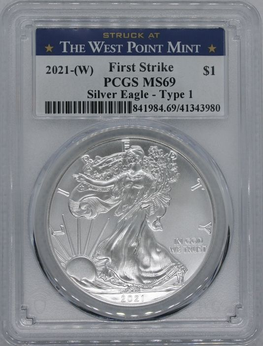 United States. 1 Dollar 2020 (W) Silver Eagle Type 1 - West Point First Strike PCGS MS69 - 1 Oz