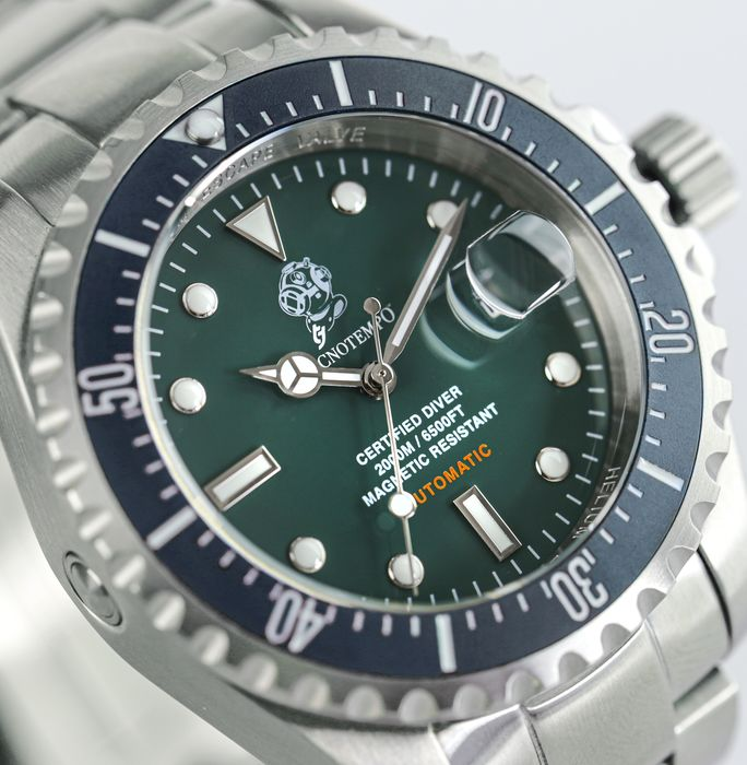 """Tecnotempo - -  """"NO RESERVE PRICE"""" - """"Special Edition Diving Helmet"""" 2000M / 6500FT  - LIMITED EDITION 100PCS - - TT.2000.VB (Green/Blue) - Uomo - 2011-presente"""
