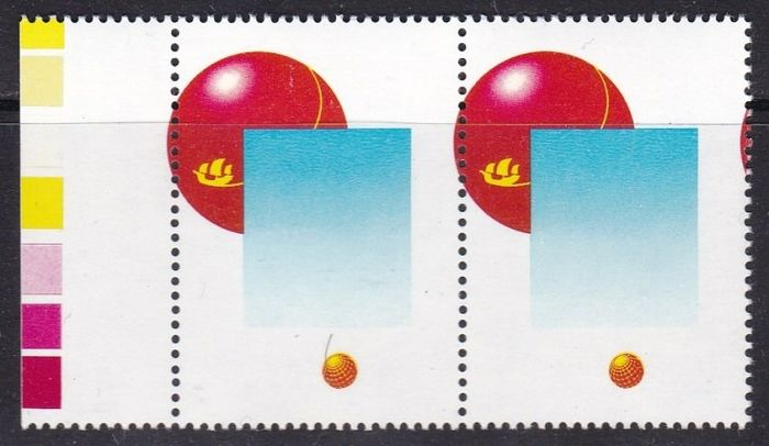 Spanje 1989 - Universal Exhibition in Seville. Variety with missing colour, in pair - Edifil 2990