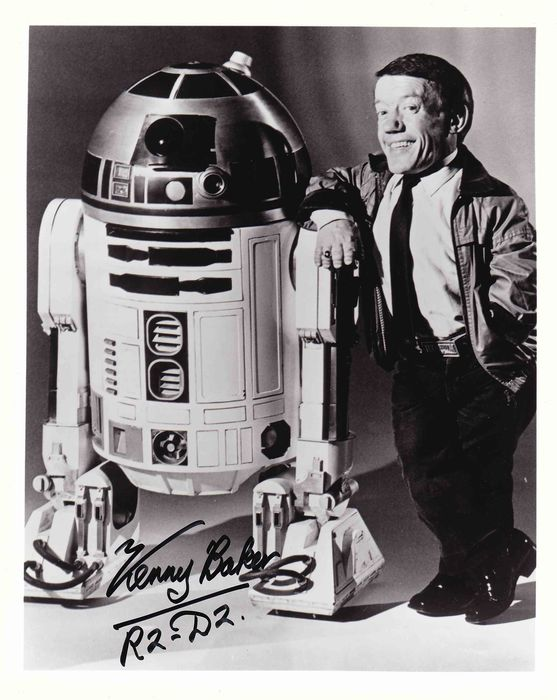 Star Wars - Kenny Baker (+) was R2-D2 - Foto, Handtekening, with COA