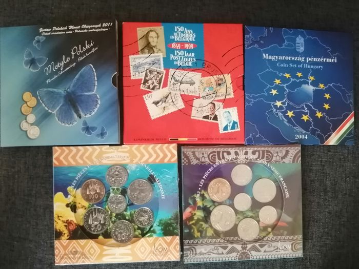Wereld. Lot various coinsets 1999/2011 BU (5 sets)