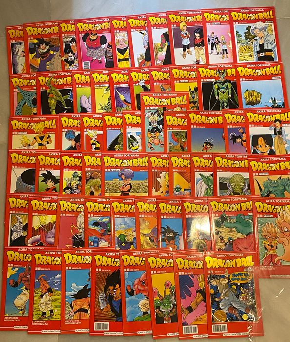 Dragon Ball - 58 cómics Manga de DRAGON BALL - Serie Roja completa - Softcover - Eerste druk - (1992/1994)