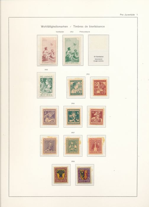 Switzerland 1913/1963 - Pro Juventute almost complete collection from 2 forerunners