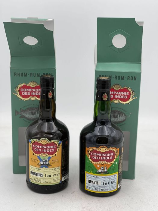 Compagnie des Indes - Mauritius 2010 9 years & Epris 2011 8 years old - 70cl - 2 bottles