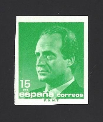 Spanien 1989 - 15 Pts. Juan Carlos, Imperforated with certificate - Edifil 3004s