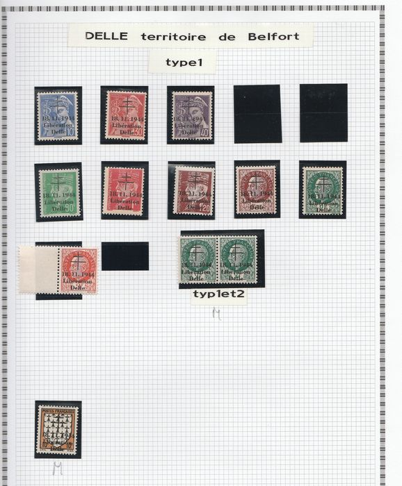 Frankreich 1944/1945 - A lovely set of liberation stamps from Delle to Haguenau, including signed ones. Value: over 3800. - mayer
