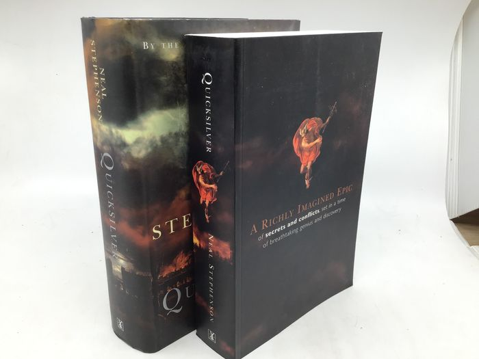 Neal Stephenson - Quicksilver (signed first edition) + Quicksilver (uncorrected proof copy) - 2003