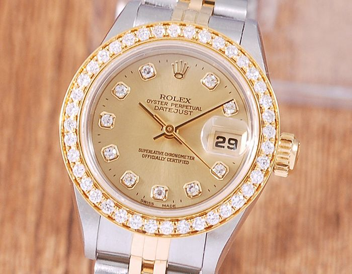 Rolex - Oyster Perpetual DateJust - 69173G - Donna - 1990-1999