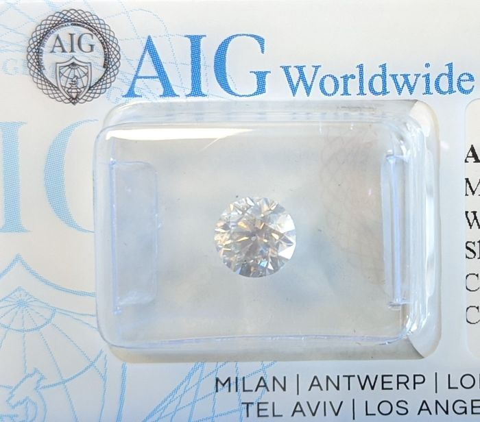 Diamant - 1.01 ct - Rond - I - SI3, No Reserve Price