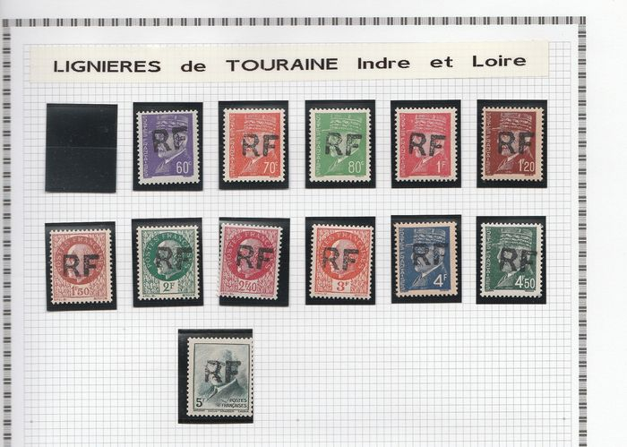 Frankrijk 1944/1945 - A lovely set of liberation stamps from Lignières to Loches, including signed ones. Value: over 3500. - mayer
