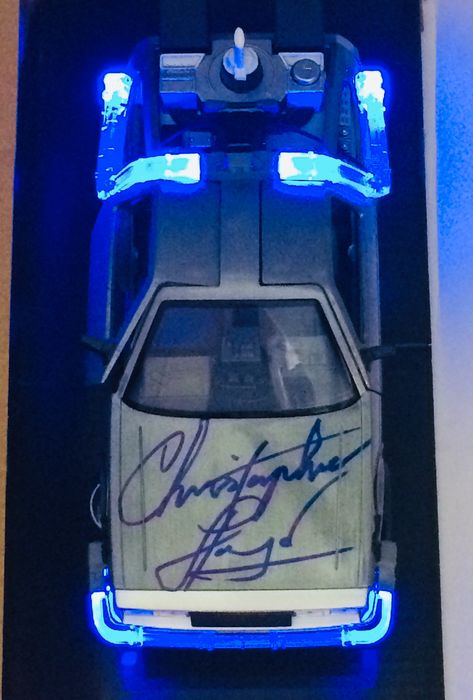 Back to the Future - DeLorean 1:24 Scale Model Car - Signed by Christopher Lloyd (Doc Brown) - Handtekening, with Coa Beckett