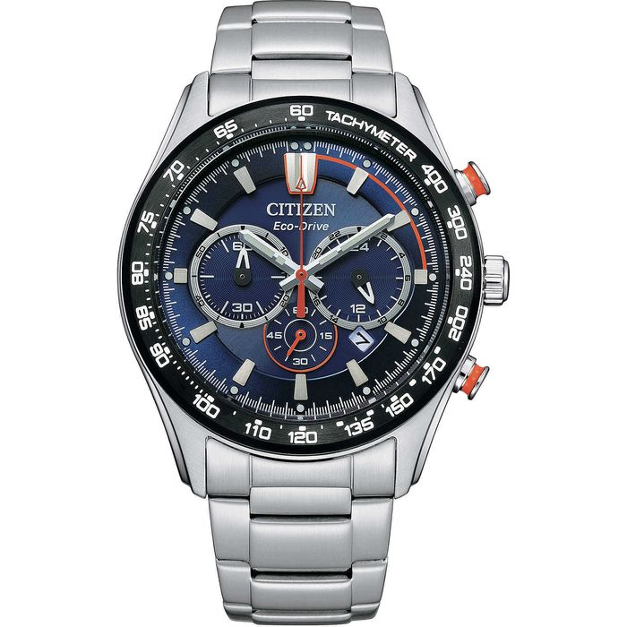 Citizen - Aviator Chrono Steel Black - CA448 - Heren - 2011-heden