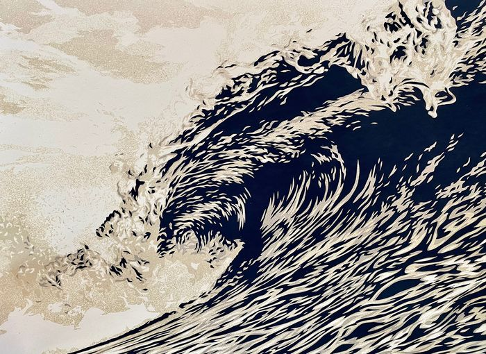 Shepard Fairey (OBEY) - Wave of Distress (Sepia)