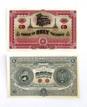 Shepard Fairey (OBEY) - Two Sides of Capitalism (Banknote)