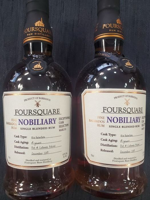 Foursquare 14 years old - Nobiliary - Mark XII - b. 2019 - 70cl - 2 bottles