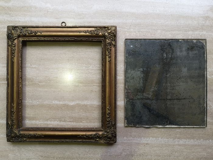 Frame and mirror (2) - Glass, Wood - First half 19th century