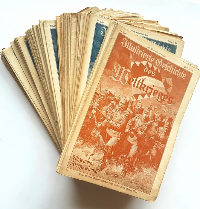 Germany - Army/Infantry - Newspaper, Illustrated newspaper of the World War 1914-1918, lot 71 pieces, Worldwar - 1914