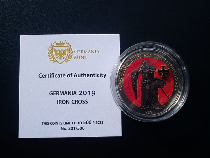 Allemagne. 5 Mark 2019 Iron Cross - 1 Oz