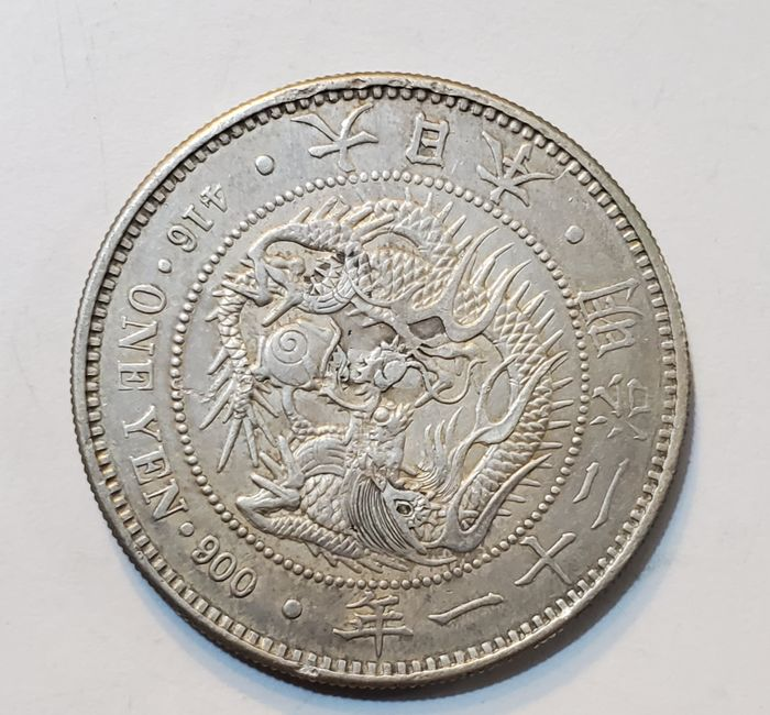Japan. 1 Yen Meiji era, year 21 (1888)