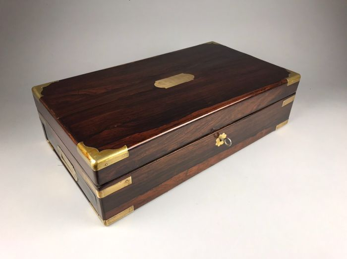 Box with interior - Brass, Rosewood - 19th century
