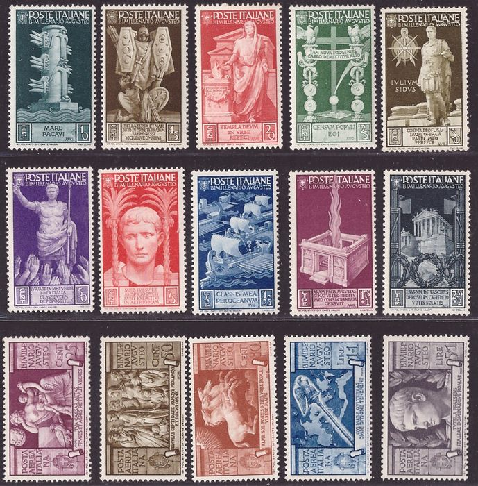 Royaume d'Italie 1936 - Bimillenary of Horace set with airmail - Sassone S. 86