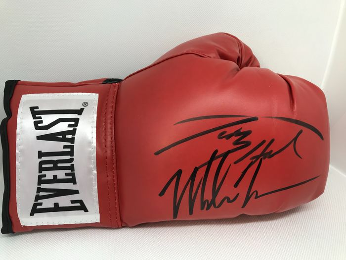 Boxing - Mike Tyson and Larry Holmes - Boxing glove