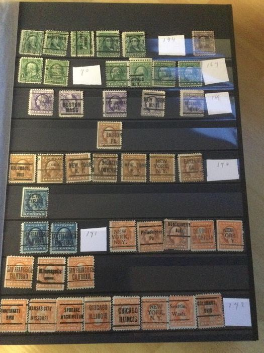 United States of America - USA collection of precancels