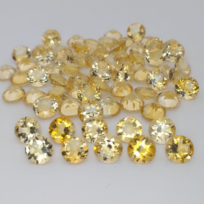 68 pcs Amarillo Citrino - 79.60 ct