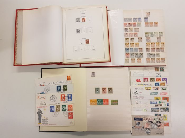 Niederlande und Übersee - Collection in three books and loose, starting from 1852