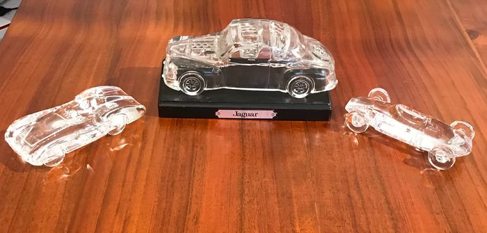 Decorative object - Jaguar Hofbaeur-Magic Edition and Mercedes W196 Carenado 1954. Cooper Climax 1959 from Atlantis - Jaguar/Mercedes/Cooper Climax - 1980-1990