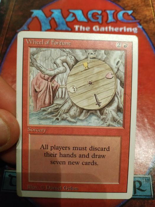 Wizards of The Coast - Magic: The Gathering - Trading card Wheel of fortune - 1994