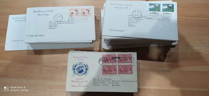 Canada 1937/1976 - Canada, 170 First day covers with direction