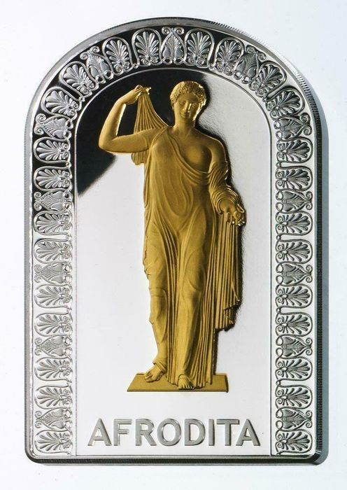Andorra. 10 Diners 2012 - Goddesses of Love Afrodite - with COA and BOX - 1 Oz