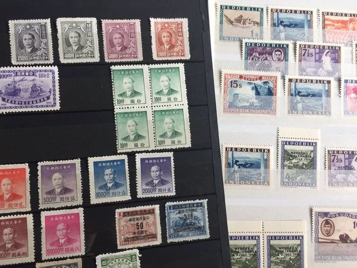 Asien 1900/2001 - a.o. China, Mongolia, Indonesia, Thailand, Vietnam. Stamps, sets and souvenir sheets