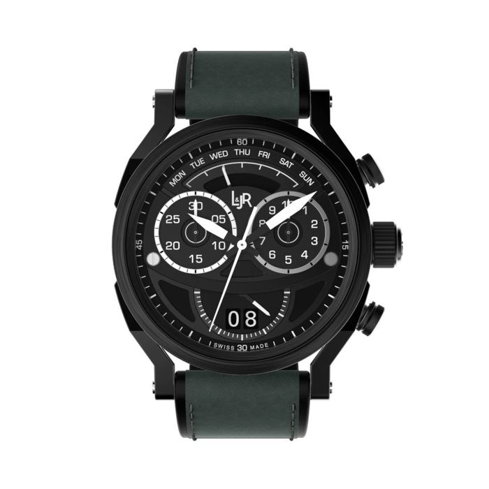 L&JR - Chronograph Day and Date Black PVD - S1505 - Hombre - 2011 - actualidad