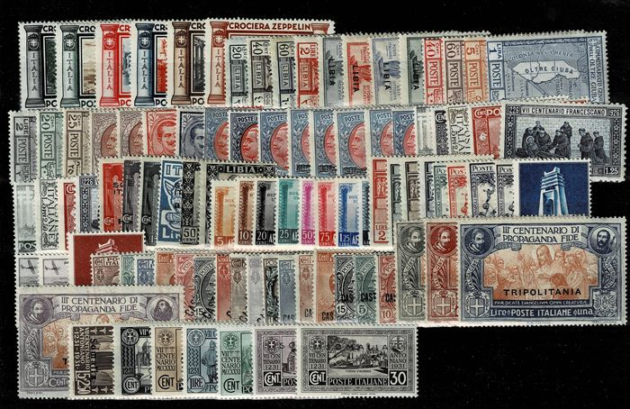 Italie - Selection of stamps of Kingdom and colonies, MNH and MH