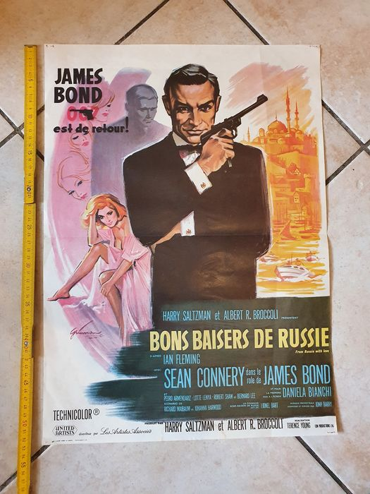 James Bond 007: From Russia with Love - Sean Connery - Αφίσα, French Cinema re-release