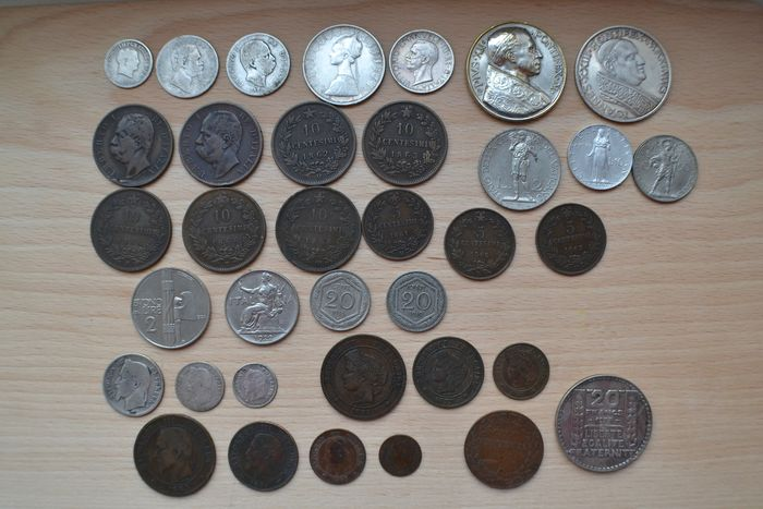 France, Italy, Vatican. Lot various coins and medals 1810/1933 (36 pieces)