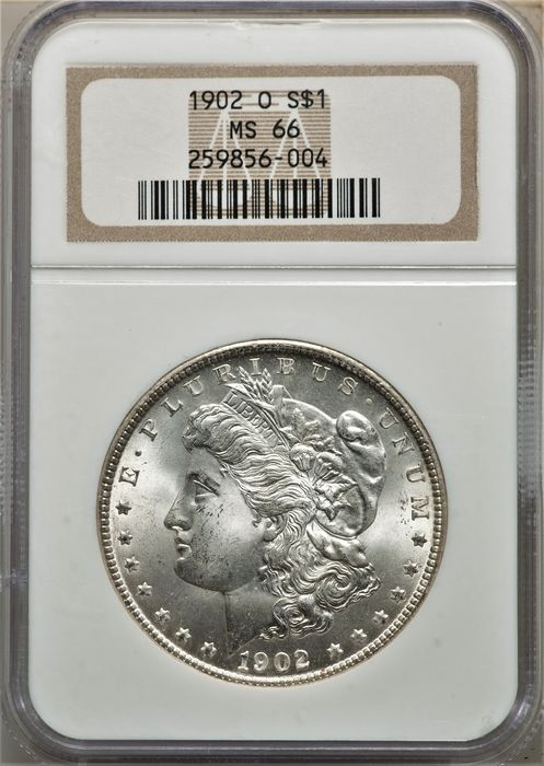 USA. 1 Dollar (Morgan) 1902-O MS-66 (New Orleans Mint) in NGC Slab