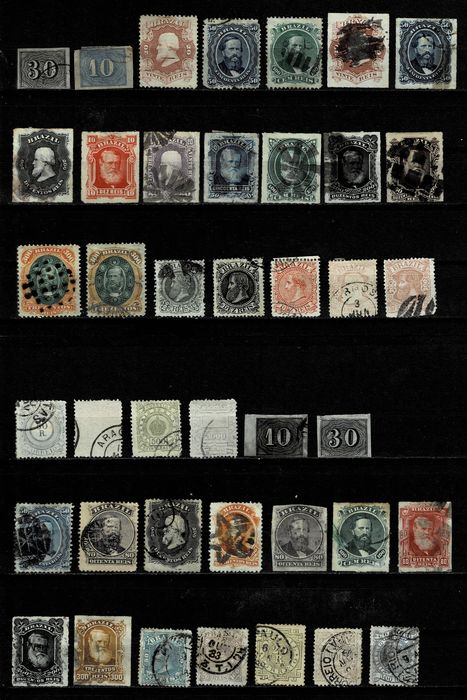 Brazil - Collection from 1844 to 1884 with excellent values