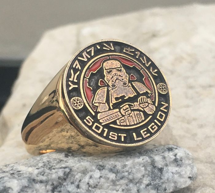 Star Wars - 501st Legion Ring - Surgical Steel + 24kt Gold Plated