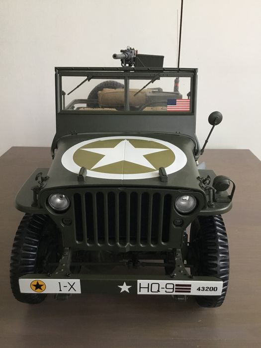Altaya - 1:8 - Jeep Willys with Canon and Trail