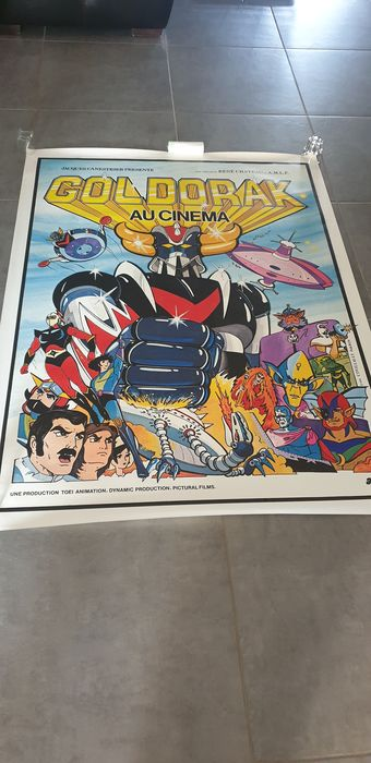 Goldorak (1979) au cinema - Poster, Original 1979 French cinema release - 120x160 cm (never displayed, very rare)