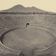 Unknown photographer - Two very large photographs of Pompei, Italy, c 1865 -  c 23.5 x 29.5 cm each