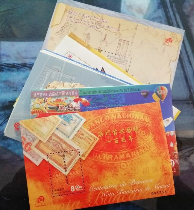 Macau China - Collection of 34 MNH souvenir sheets from the 1990s to the 2000s, all different