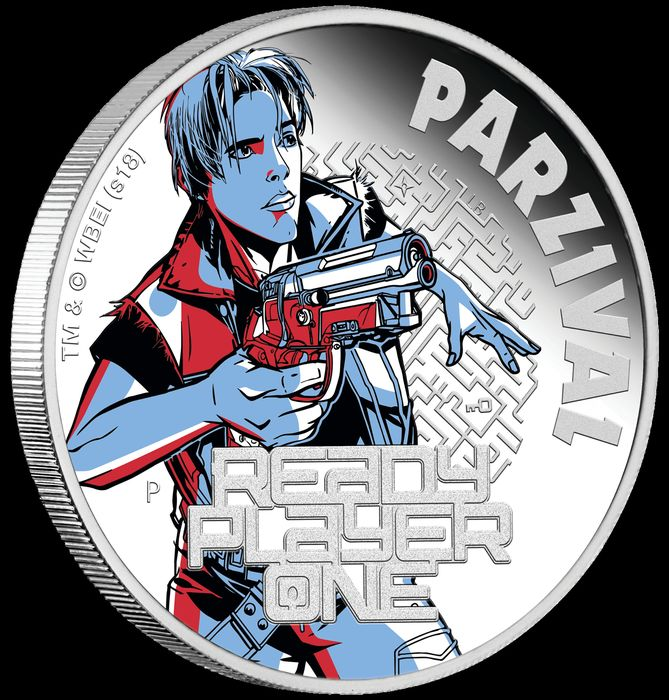 Tuvalu. 1 Dollar 2018 Proof - Ready Player One - Parzival - Perth Mint 1 oz