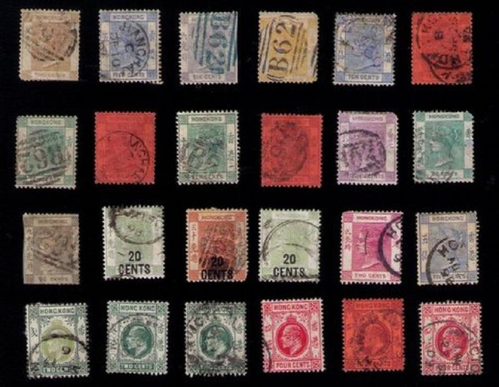 Hong Kong 1862/1952 - Hong Kong (British Colony) a batch collection of stamps from 1862 to 1952