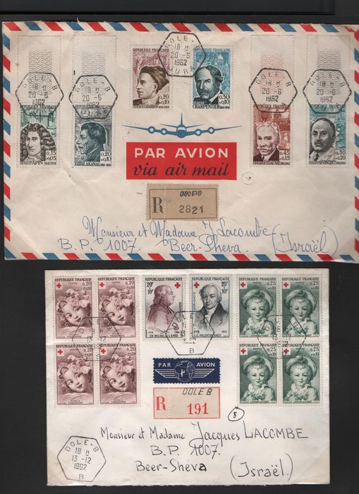 Wereld 1850/1979 - Collection of Letter with Airmail o.a France