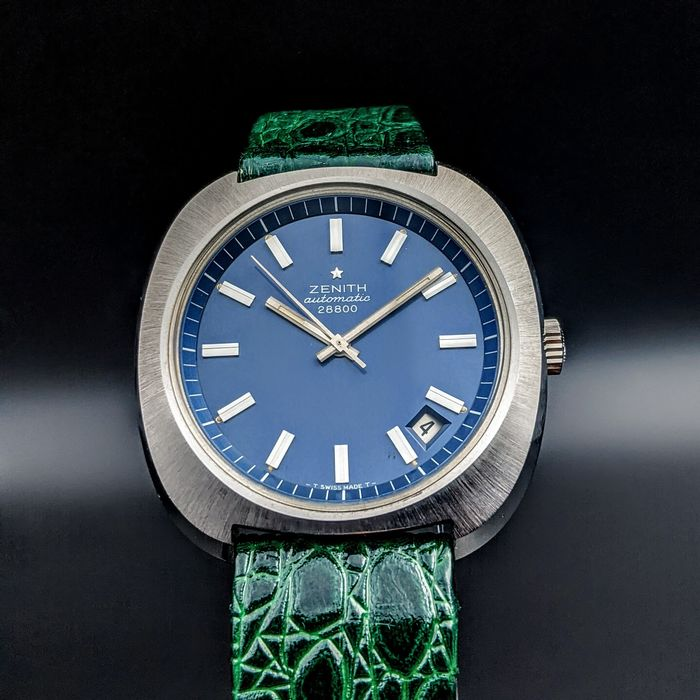 """Zenith - 28800 Automatic / Serviced / """"NO RESERVE PRICE"""" - 01.1230.290 - Unisex - 1970-1979"""