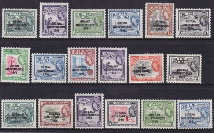 Guayana 1966/2007 - mint never hinged collection